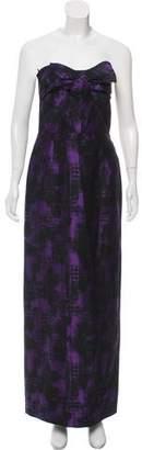 Michael Kors Strapless Wool Maxi Dress