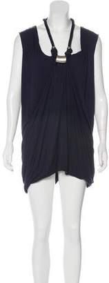 Yigal Azrouel Sleeveless Draped Mini Dress