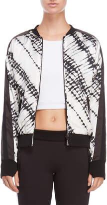 Blanc Noir Reversible Silk Bomber Jacket
