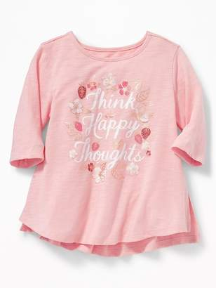 Old Navy Graphic Slub-Knit Tunic for Toddler Girls