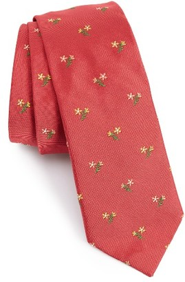 Men's Paul Smith Embroidered Floral Bouquet Silk Tie $150 thestylecure.com