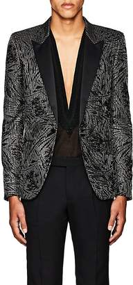 Saint Laurent MEN'S FLORAL ONE-BUTTON TUXEDO JACKET