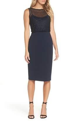 Adrianna Papell Bead Embellished Sheath Dress