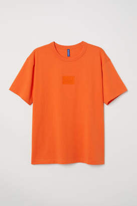 H&M Cotton Jersey T-shirt - Orange