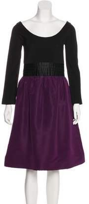 Isaac Mizrahi Long Sleeve Knee-Length Dress
