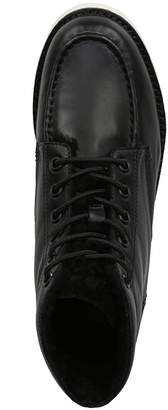 Vince Finley Leather Platform Lace-Up Booties