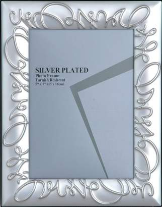 Camilla And Marc Sukima Decor Wed Photo Frame, Metal, Silver, 20 x 25 cm
