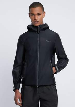Emporio Armani R-Ea-Mix Blouson In Tech Fabric With Reflective Logo On The Back