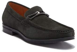 Stacy Adams Neville Suede Moc Toe Bit Loafer