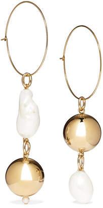 Mounser - Pagoda Fruit Gold-plated Pearl Earrings