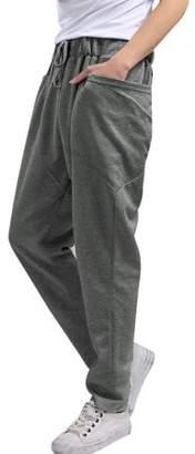 Unique Bargains Men's Jogger Sweatpants Double Pocket Drawstring Harem Casual Pants