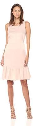 Nanette Lepore Nanette Women's Sleeveless Satin Dress W/Flounce Hem
