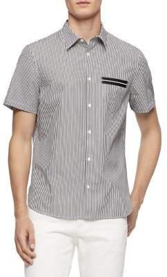 Calvin Klein Pinstriped Short-Sleeve Shirt