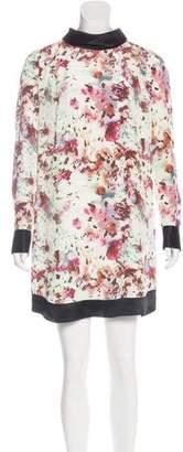 Richard Chai Floral Print Mini Dress