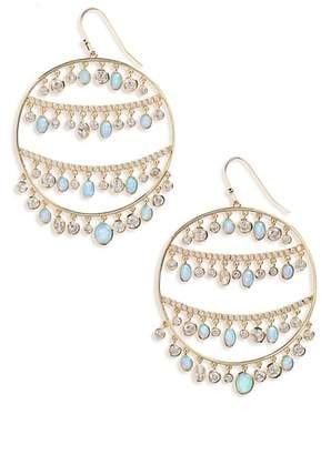 Melinda Maria Fox Opal & Crystal Drop Earrings