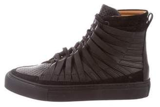 Damir Doma Leather High-Top Sneakers