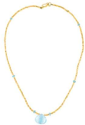 18K Topaz Bead Strand Necklace