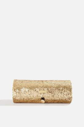Skinny Dip Beauty Gold Glitter Make Up Roll Bag by Skinnydip Beauty