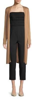 Joan Vass Long Sleeve Open Front Duster Cardigan