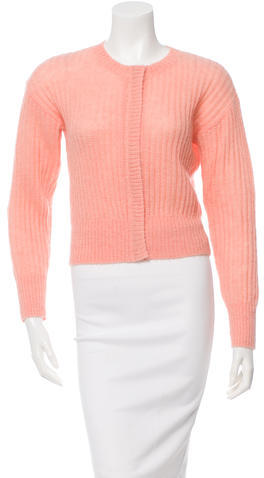 Sonia by Sonia Rykiel Cropped Rib Knit Cardigan