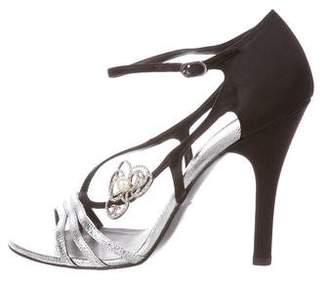 Chanel Karung Camellia Sandals