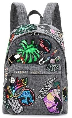 Marc Jacobs Paradise Biker denim appliqué backpack