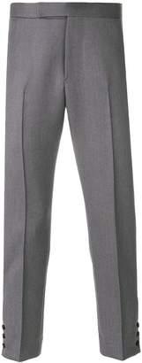 Thom Browne Cavalry Twill Pintuck Slim Fit Trouser