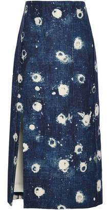 ADAM by Adam Lippes Bleached Denim Midi Skirt
