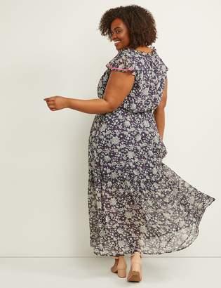 c7cb4b50d1b5 Lane Bryant Floral Chiffon Fit & Flare Maxi Dress