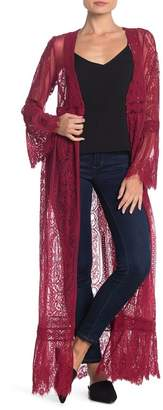 Band of Gypsies Bell Sleeve Lace Duster