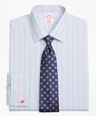 Brooks Brothers Madison Classic-Fit Dress Shirt, Non-Iron French Cuff Hairline Track Stripe