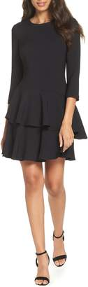 Eliza J Tiered Ruffle Knit Dress
