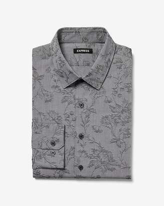Express Extra Slim Dobby Dress Shirt