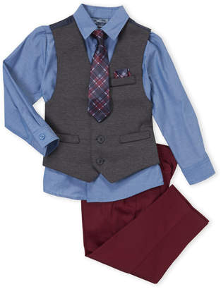 Nautica Boys 4-7) 4-Piece Knit Vest & Pants Set