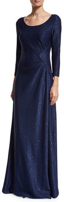 St. John Collection Ashanti Sequined 3/4-Sleeve Gown, Violet $1,395 thestylecure.com