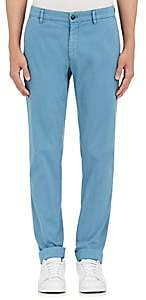 Barneys New York MEN'S CORDED STRETCH-COTTON SLIM CHINOS-BLUE SIZE 50