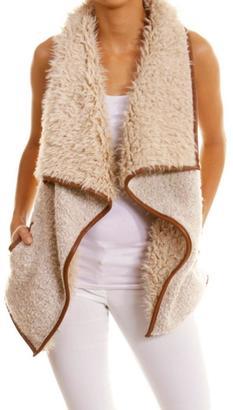 Love Tree Faux Fur Vest $54 thestylecure.com