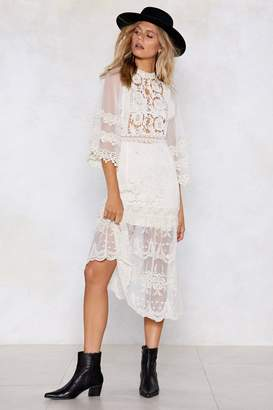 Nasty Gal Give Me Space Crochet Dress
