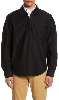 Club Monaco Slim Fit Quarter Zip Pullover