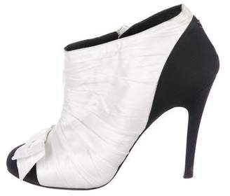 Chanel CC Ruched Booties