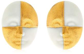 Lladro Harlequin Face Earrings