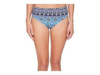 Tommy Bahama Tika Tiles High-Waist Sash Bikini Bottom Women's Swimwear
