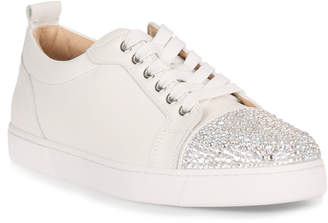 Christian Louboutin Louis Strass white leather sneaker