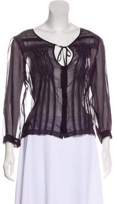 Philosophy di Alberta Ferretti Silk Long Sleeve Top