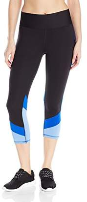 Champion Women's Absolute Colorblock Capri Legging with SmoothTec Waistband