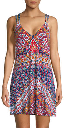 Nanette Lepore Paisley-Print Mini Dress
