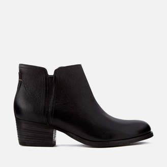 Clarks Women's Maypearl Ramie Leather Heeled Ankle Boots