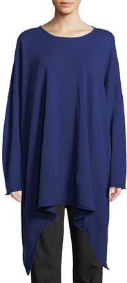 eskandar Cashmere Cascading Bateau-Neck Sweater