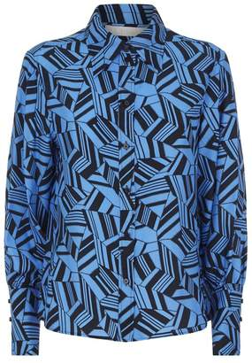 Chloé Geometric Silk Shirt
