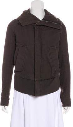 Rick Owens Fold-Over Bomber Jacket